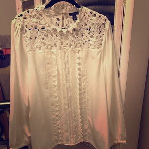 NWT White Halogen lace top